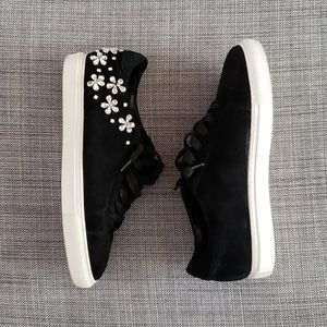 Minelli black suede sneakers with rhinestones EU41